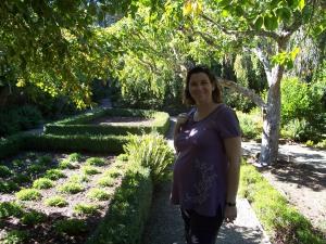 Gen in Filoli garden