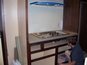 Cooktop wall (Eric's getting to work)