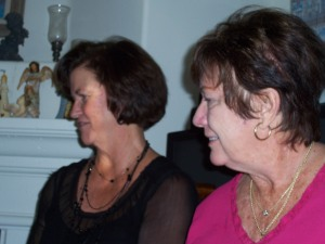 My mom and the gracious hostess