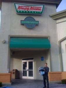 Calvin goes to Krispy Kreme