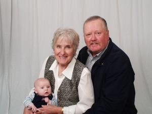 with Grammy Karen and Grandpa Butch